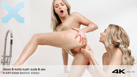 Alexa & Karla Kush - Suds and Sex