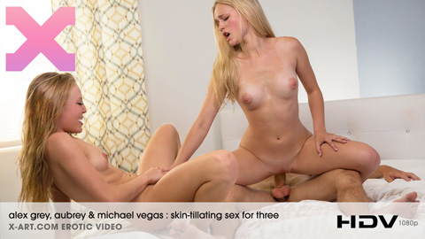 Aubrey & Alex Grey - Skin-Tillating Sex For Three