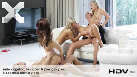 Susie & Angelica & Heidi - Group Sex